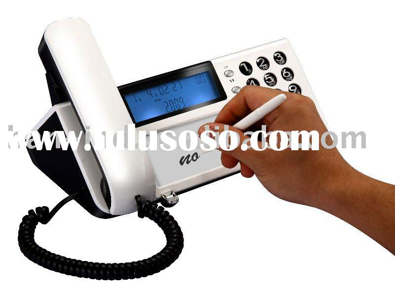 Telephone with erasable memo pad