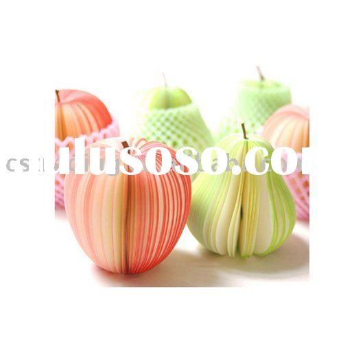 Various kinds of  Fruit Memo Pad Red Apple Notepad Memo Pad Notepad Note Paper