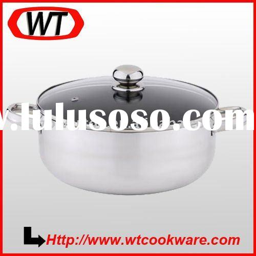 aluminum non-stick shallow soup pot
