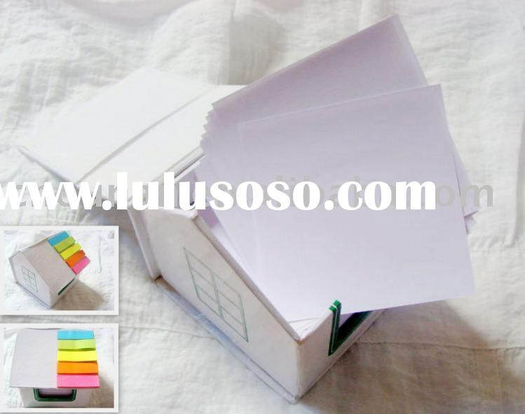 customized memo pad in house shape holder