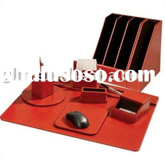 memo pad  holder leather desk set
