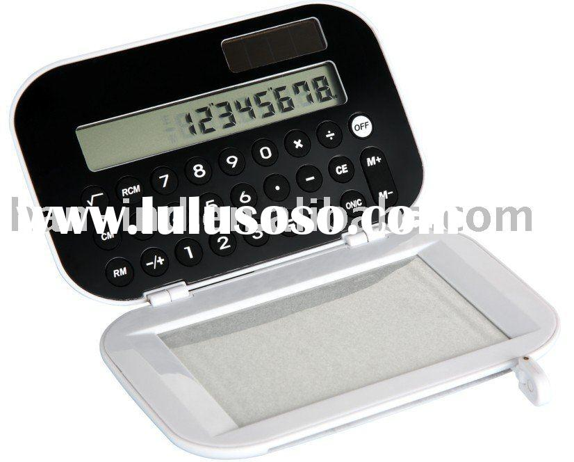 mini calculator with erasable memo pad