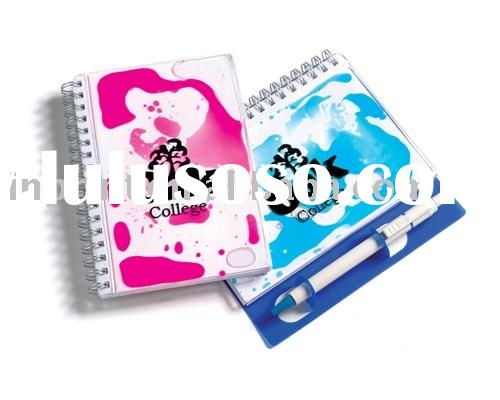 pocket notepad(hard cover memo pad,plastic cover notebook)