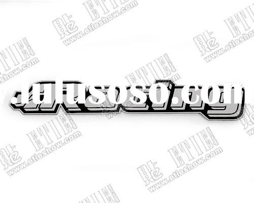Racing  stainless steel thin car sticker