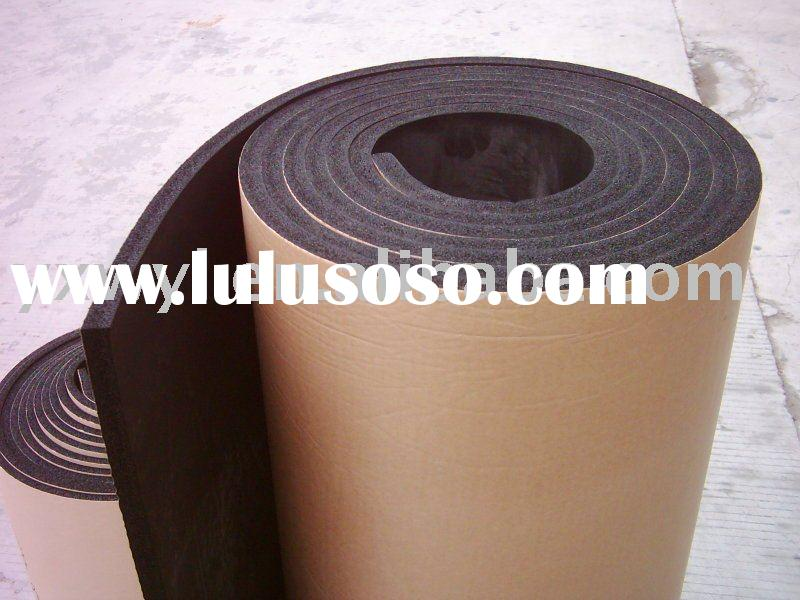 Self-adhesive foam rubber sponge