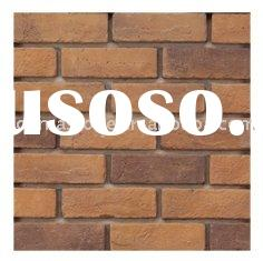 brown thin antique brick for wall decoration