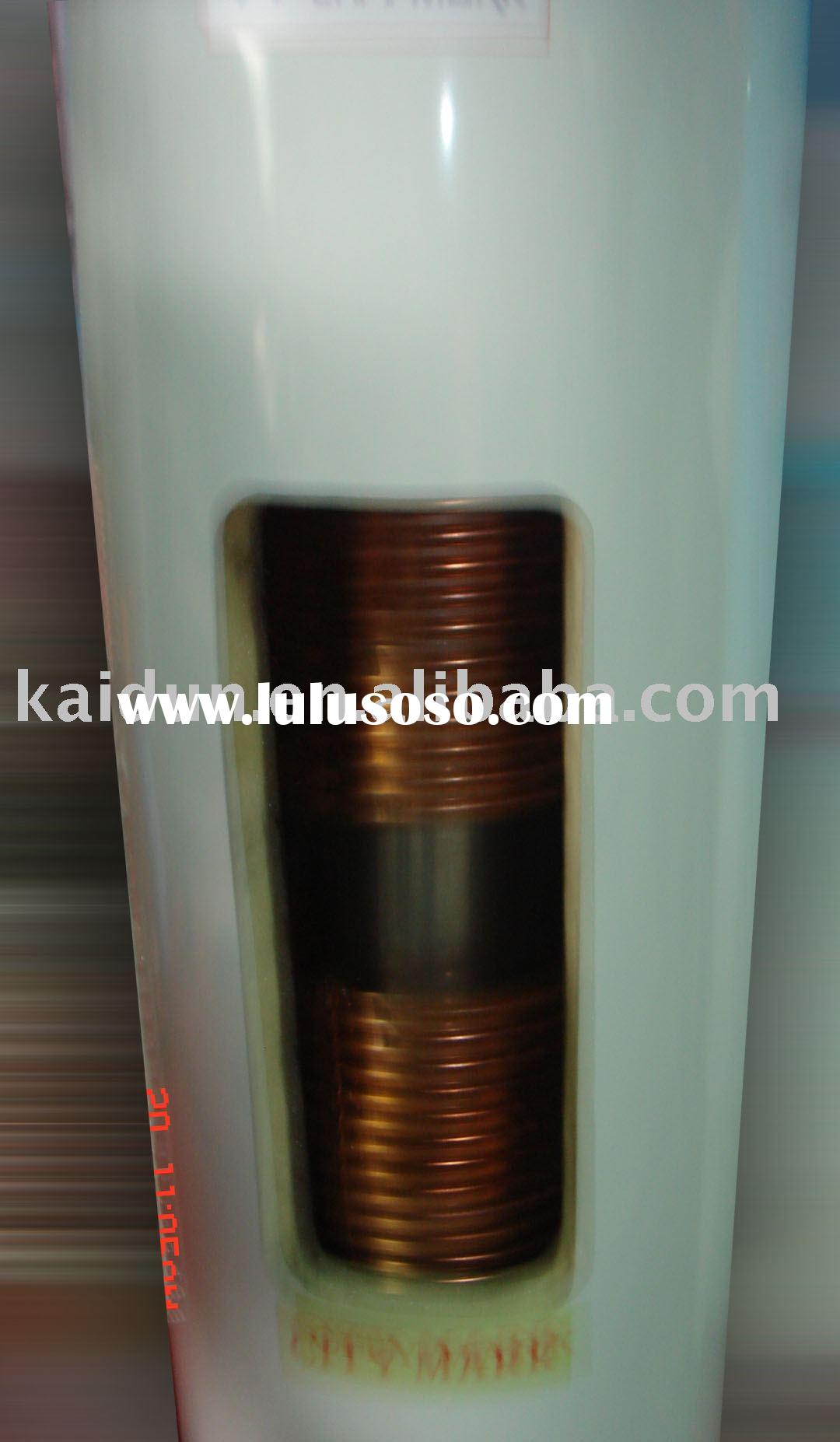 pre-heating  solar water heater tank with copper coil