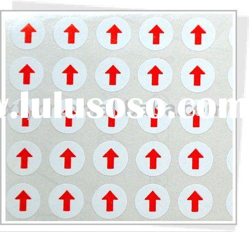 printed round adhesive label and sticker