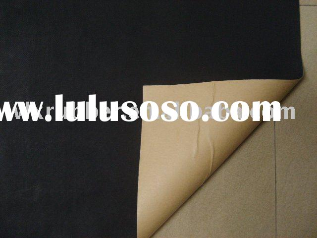 rubber foam with adhesive