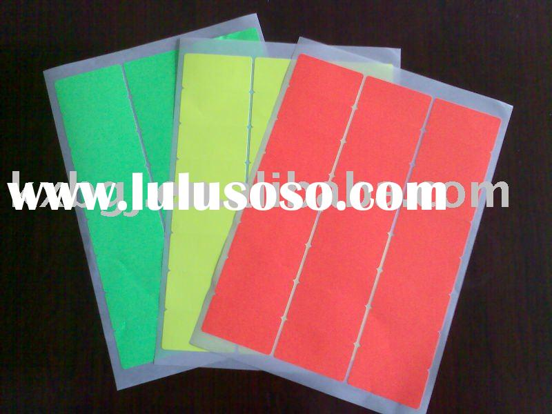 self-adhesive fluorescent label