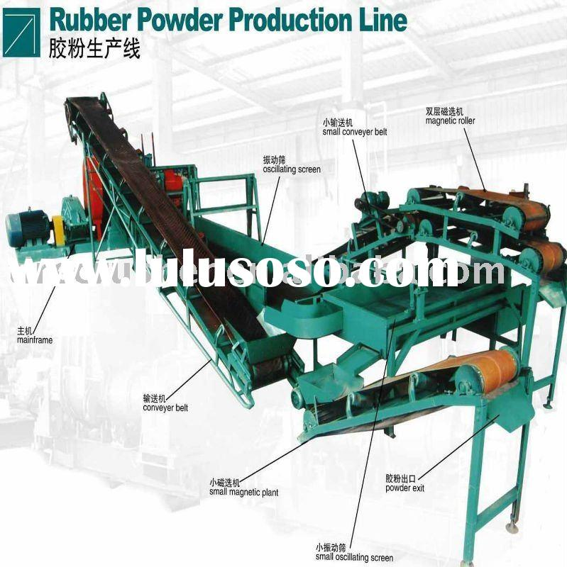 used and scrap tyres recycling machinery