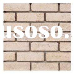 white thin antique brick for wall surface