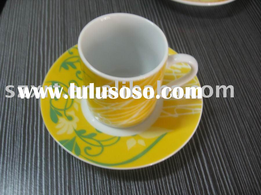 90 cc ceramic coffee cup and saucer