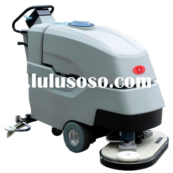 Automatic dual-brush ground cleaning machine,cleaner machine