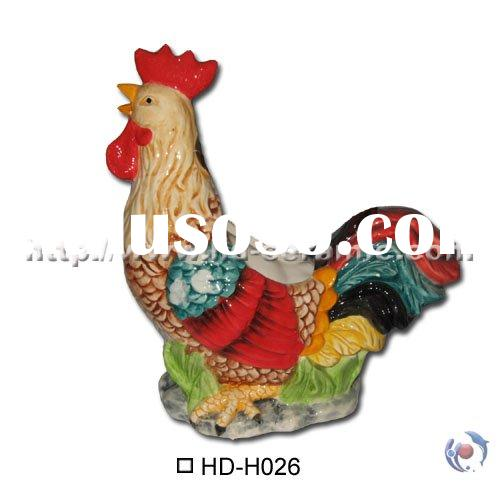 Ceramic planter,flower pot,rooster planter,chicken planter