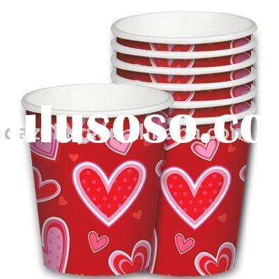 Disposable Paper Cup,  Taza, Vaso de Carton - Valentine