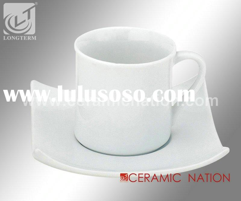 Porcelain Demi Cup and Square Saucer