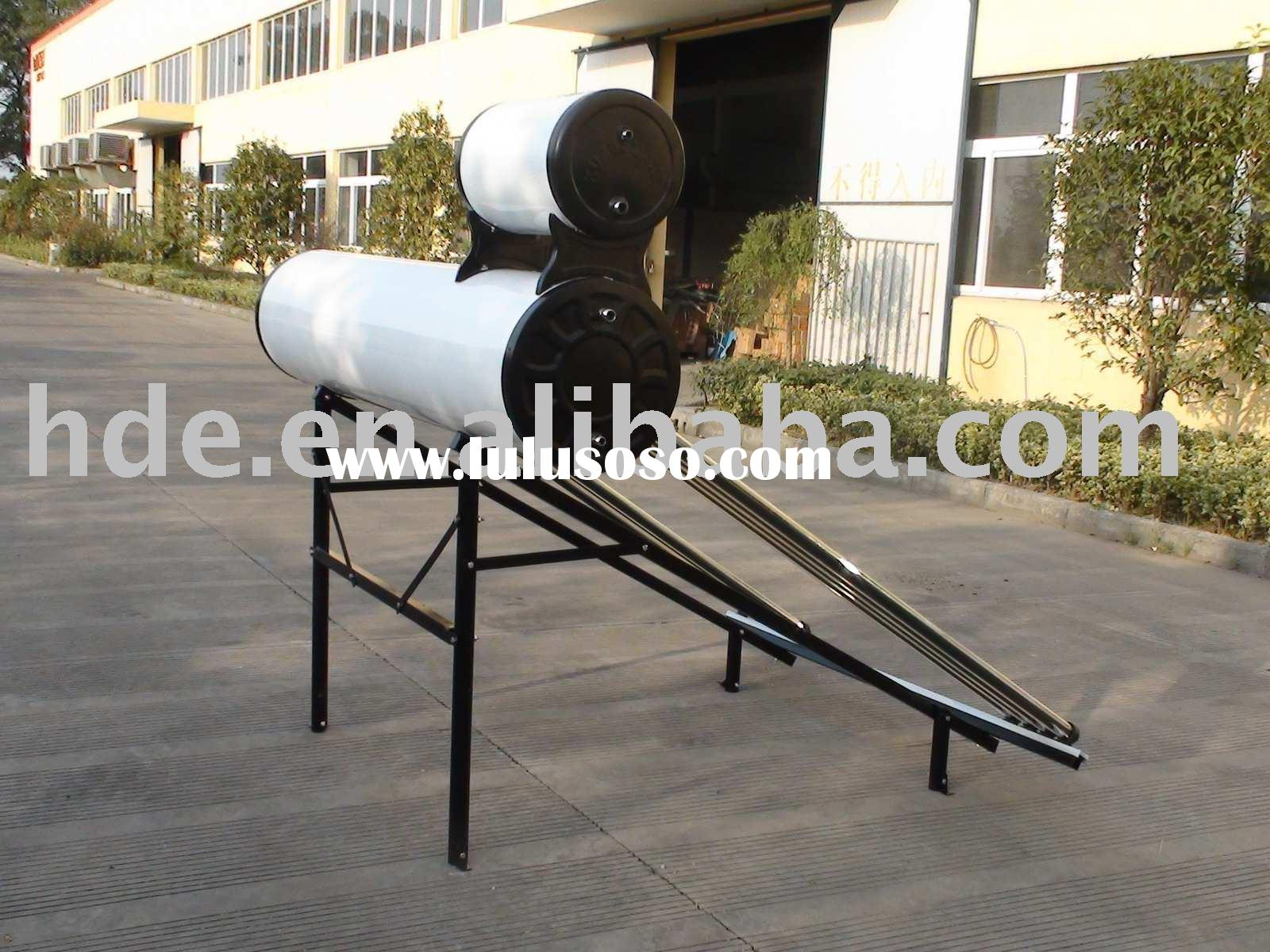 Solar water heater with assistant tank
