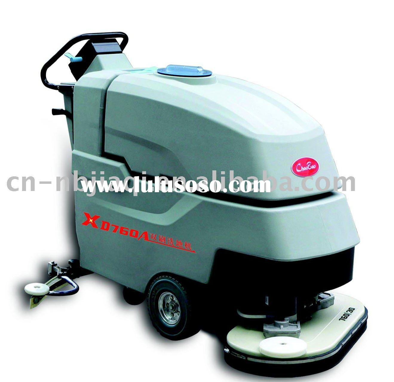 automatic dual-brush ground cleaning machine