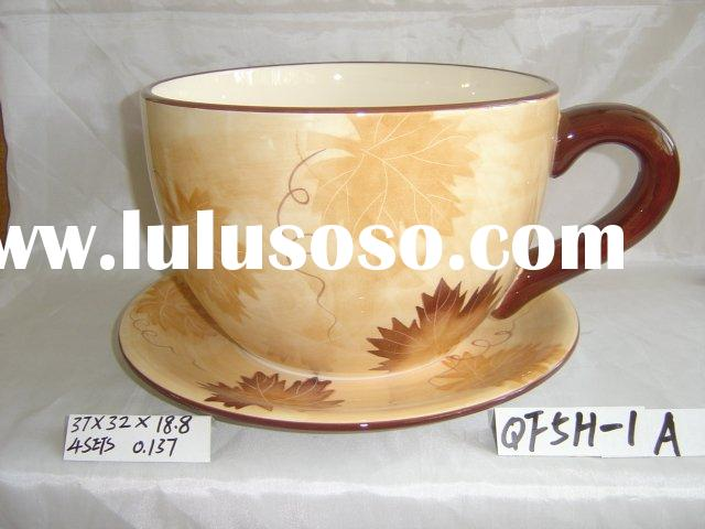 big cup&saucer flower pot SN0335