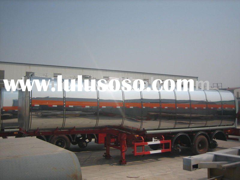 chemical liquid tank truck trailer used for asphalt