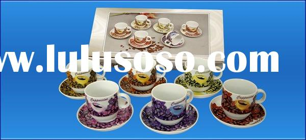 coffee cup set, tea cup and saucer set