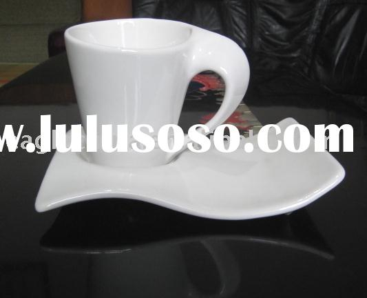porcelain coffee cup & saucer,ceramic coffee cup & saucer