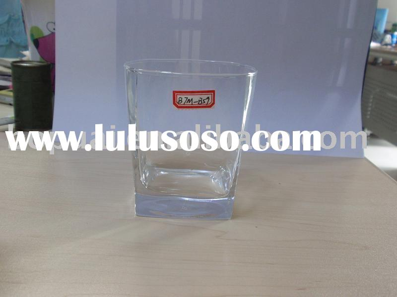 square whisky glass cup, water glass cup