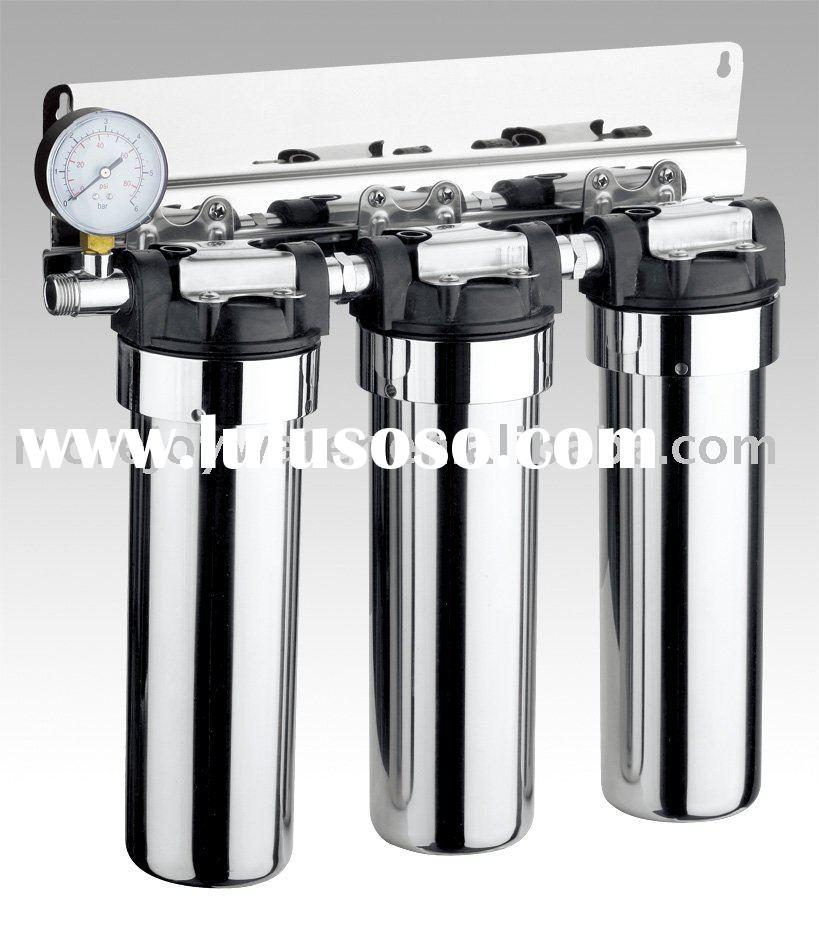 stainless steel faucet mounted water filter