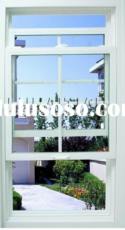 American style pvc double hung window