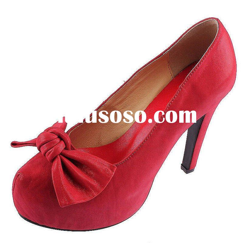 Aoxuan Suede Bow Front Leather Shoes