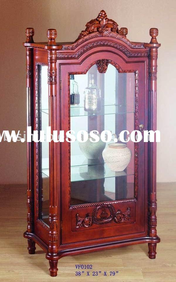 Classical French provincial wine cabinet,cabinet,solid wood living room cabinet,antique furniture