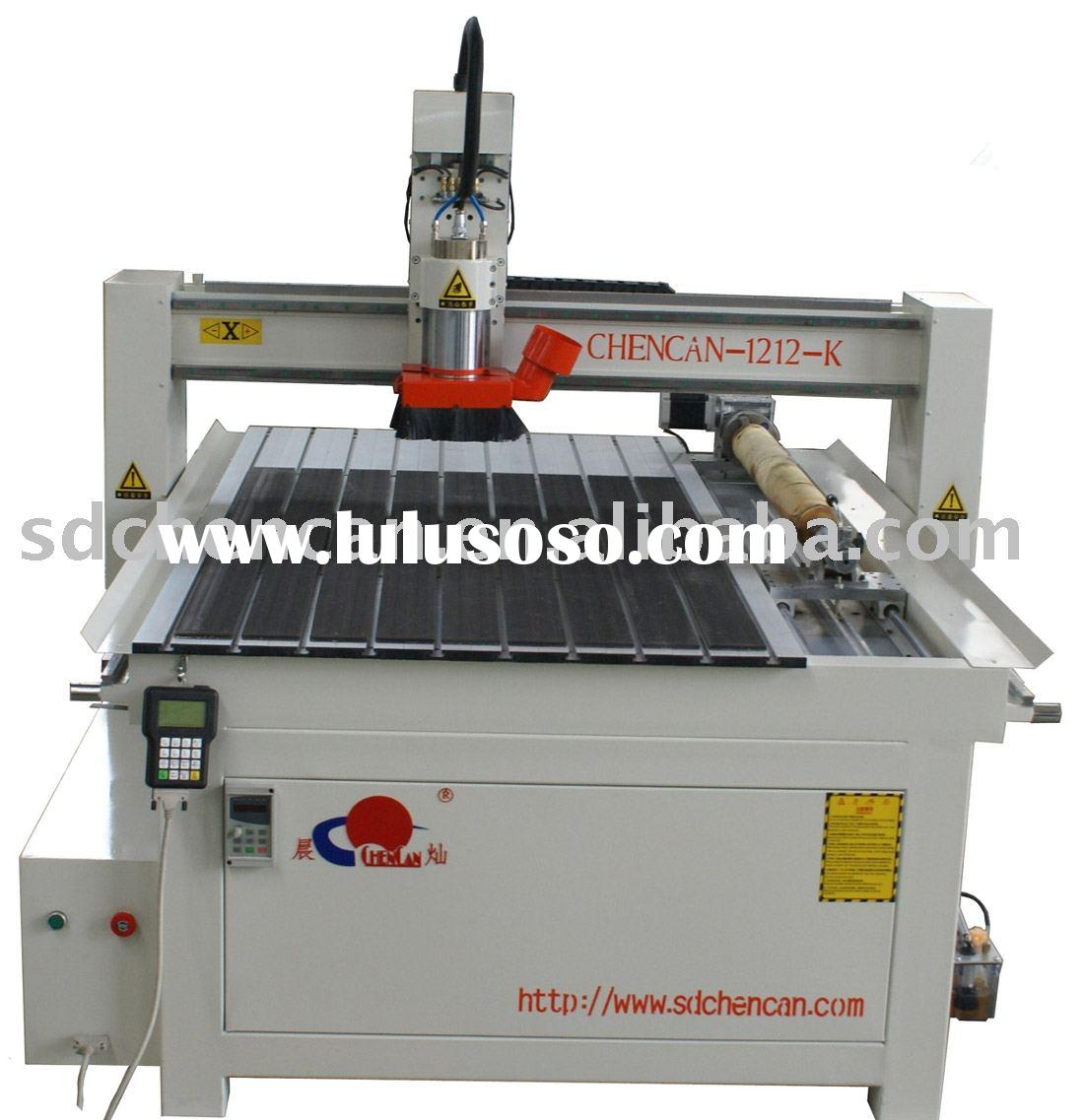 Economic CNC Machinery --CC1212-K ( Wood  CNC Router with Rotary)