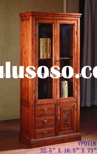 French provincial solid bookcase,wine cabinet,living room cabinet,living room furniture,anqitue home