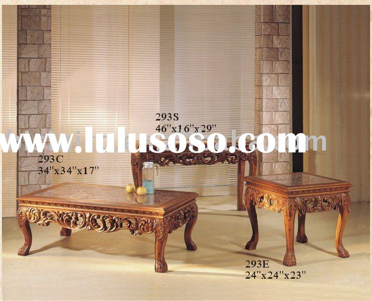 French provincial wooden coffee table,antique home furniture,American furniture
