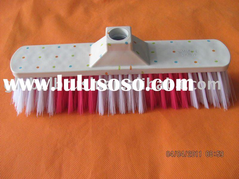HQ0135P-floor broom of durable  PET bristle(made in China)--cleaning accessory