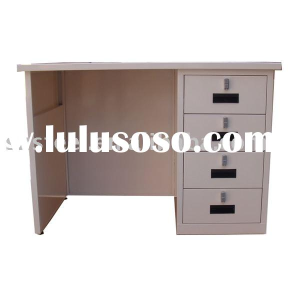 Metal Office Desk with 4 Drawers