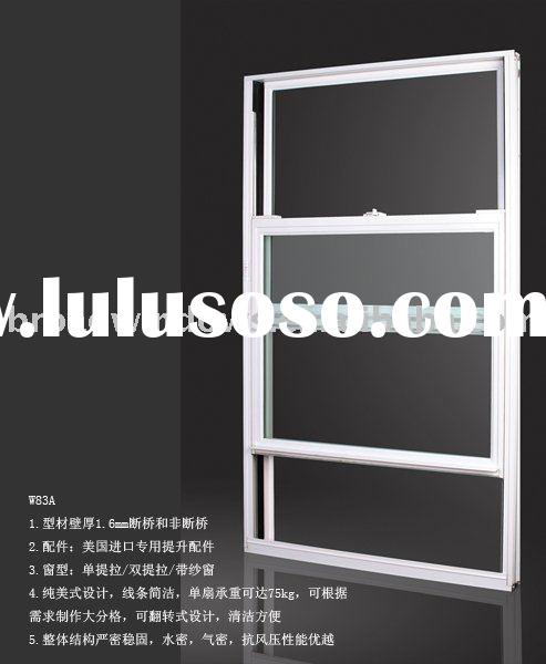 Thermal break Aluminum double hung windows(W83A)