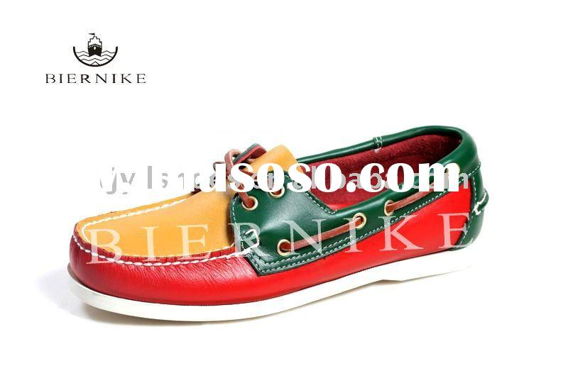 casual leather shoe, boat shoe