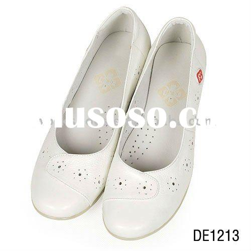 hospital nurse doctor shoes,white leather shoes for nurse,high quality