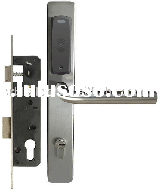 hotel card lock, mortise lock case, Mifare 1 S50 card electronic lock E3061Z, card key