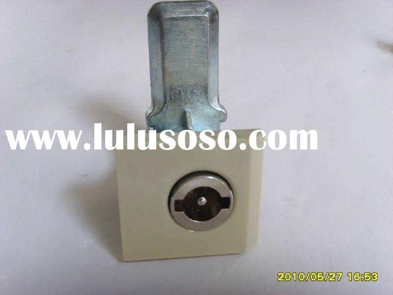 zinc alloy cam lock with double bit keys  for cabinet