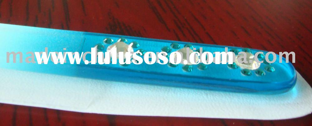 Glass nail files with Swarovski crystals