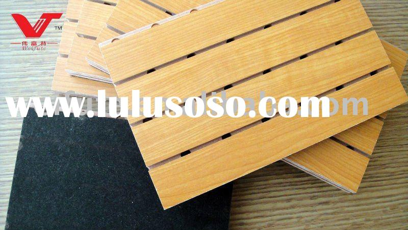 Perforated wooden acoustic panel