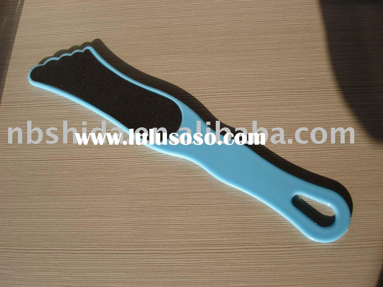 Plastic two sides  Pedicure File with sand file
