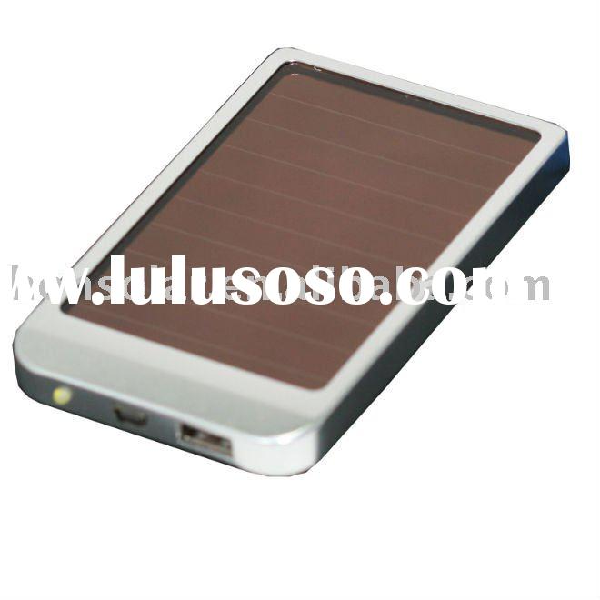 Solar mobile phone charger, 2600mah battery, charge for Nokia/Moto/Samsung/Blackberry etc.