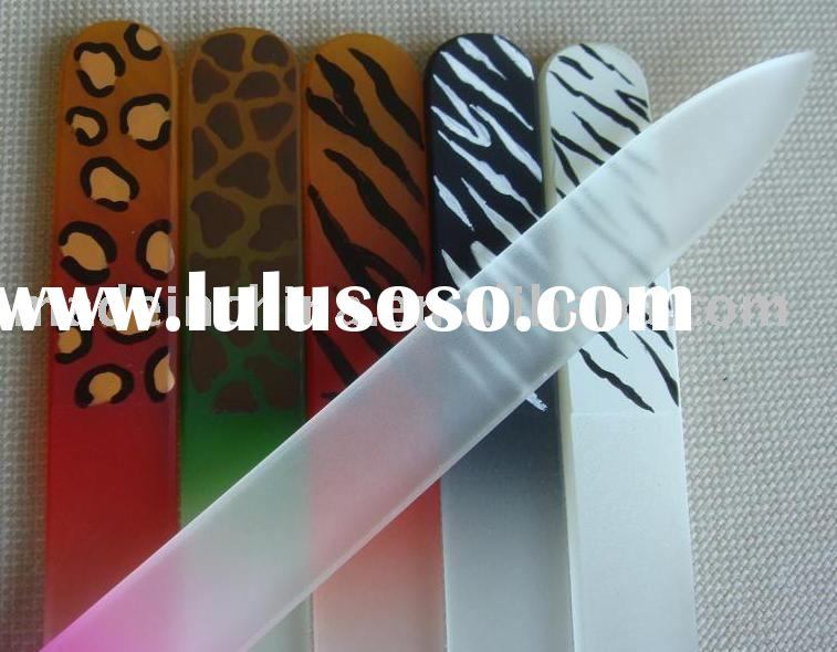 hand painted glass nail file
