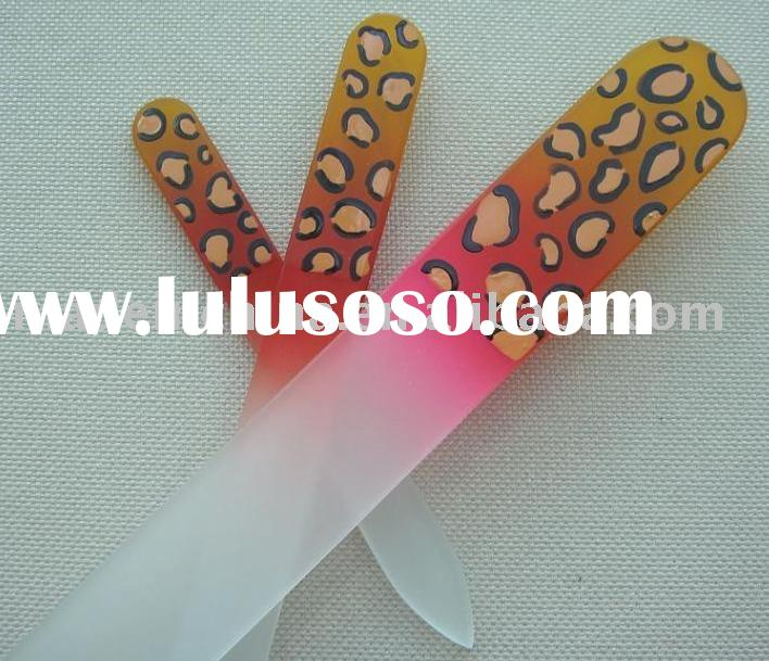 hand painted glass nail file set