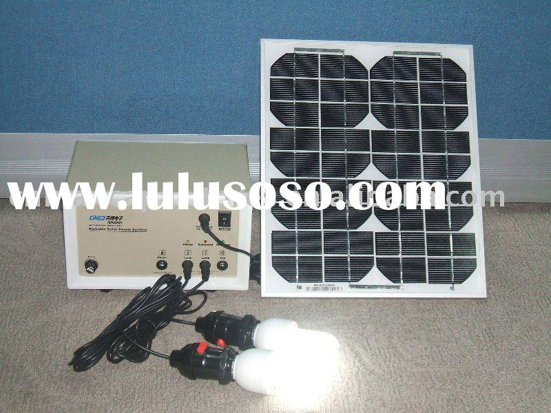 30W portable solar lighting system for home use