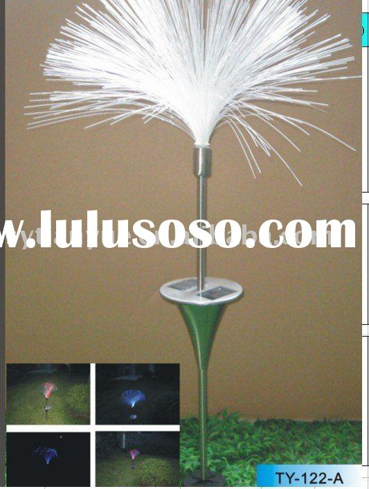 7 colour changable fiber-optic solar garden light